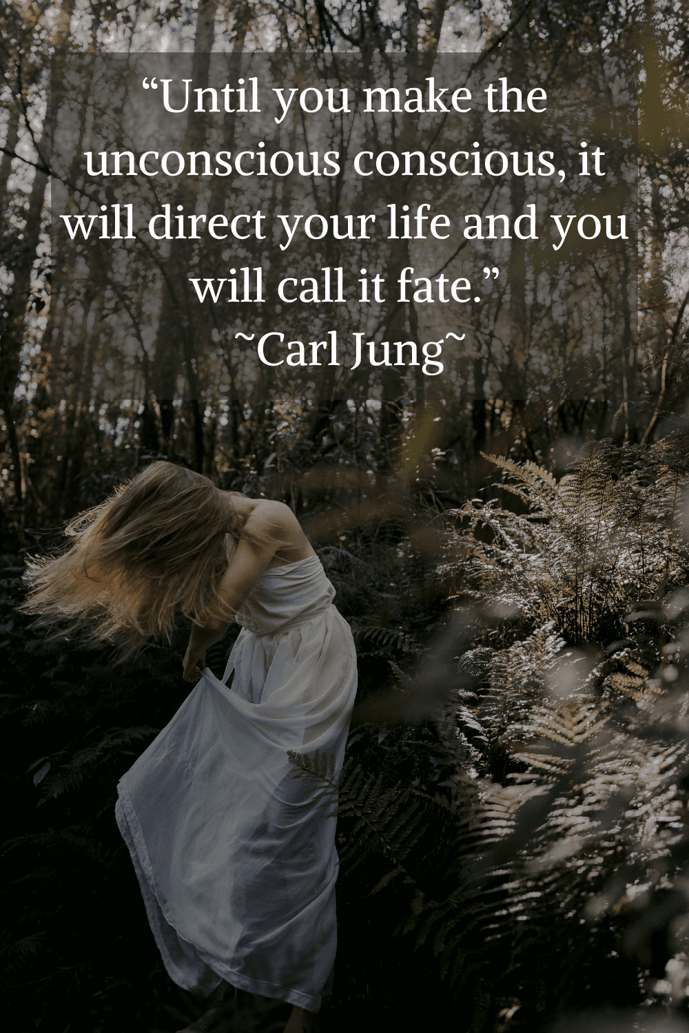 """""""Until you make the unconscious conscious, it will direct your life and you will call it fate."""" Carl Jung"""